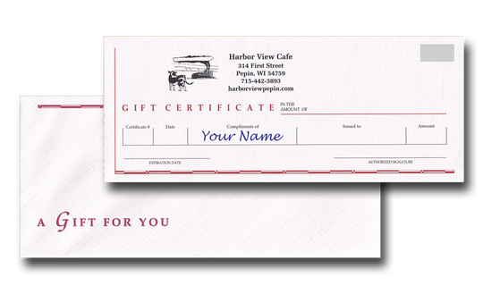 Harbor View Cafe Gift Certificate